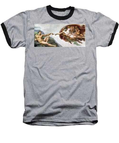 Creation Of Adam Baseball T-Shirt