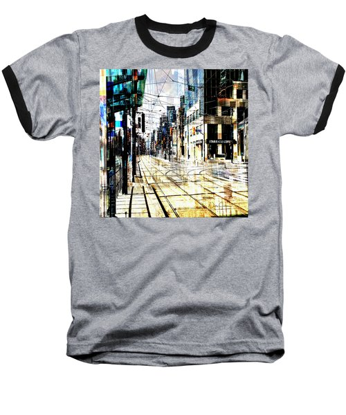 Crossing Spadina Baseball T-Shirt by Nicky Jameson