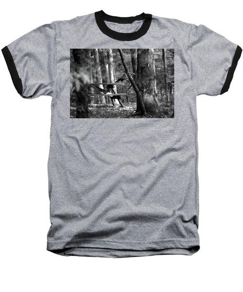 Crow On A Table Baseball T-Shirt