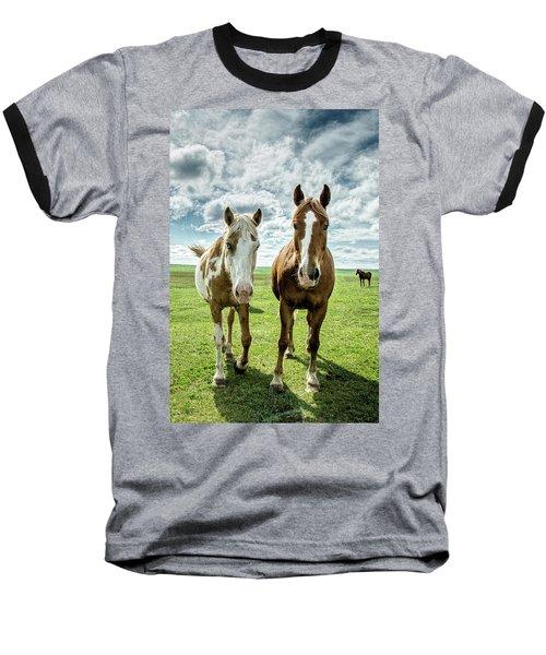 Baseball T-Shirt featuring the photograph Curious Friends by Kristal Kraft