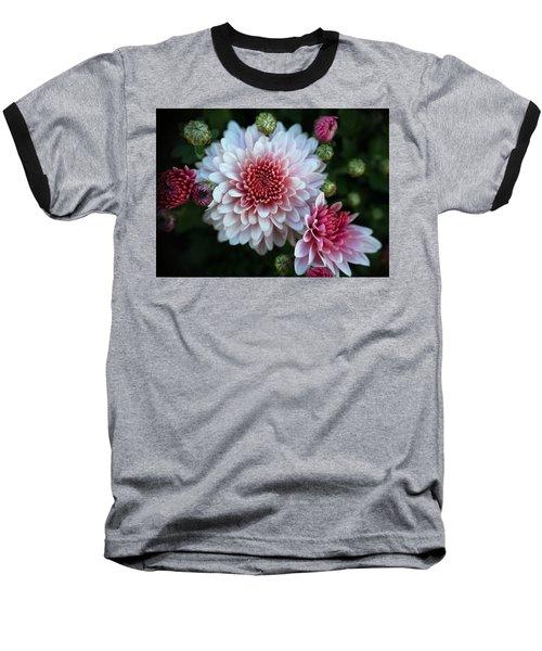 Dahlia Burst Baseball T-Shirt