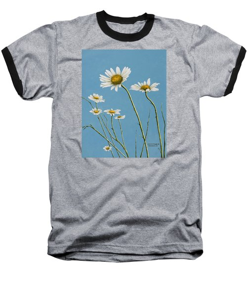 Daisies In The Wind Baseball T-Shirt