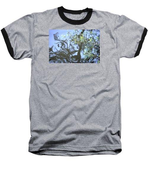 Dancing Leaves Baseball T-Shirt by Linda Geiger