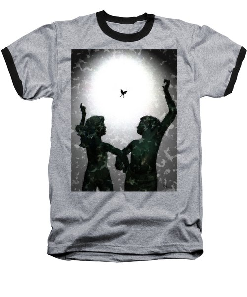 Dancing Silhouettes Baseball T-Shirt by Holly Ethan