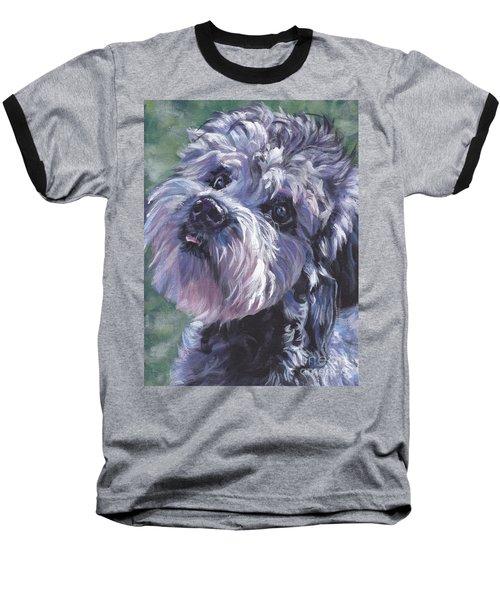 Baseball T-Shirt featuring the painting Dandie Dinmont Terrier by Lee Ann Shepard