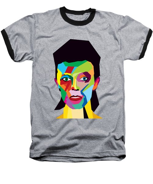 David Bowie Baseball T-Shirt by Mark Ashkenazi