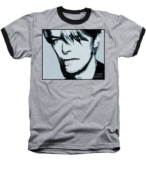Born Under A Stone Born With A Single Voice. Bowie Baseball T-Shirt