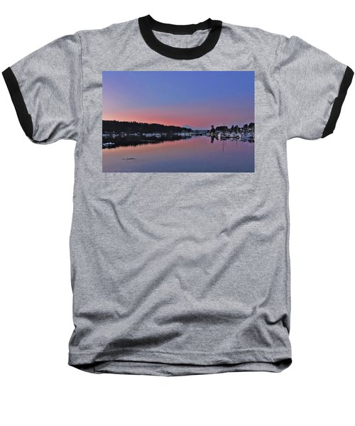 Baseball T-Shirt featuring the photograph Dawn At Gig Harbor by Jack Moskovita