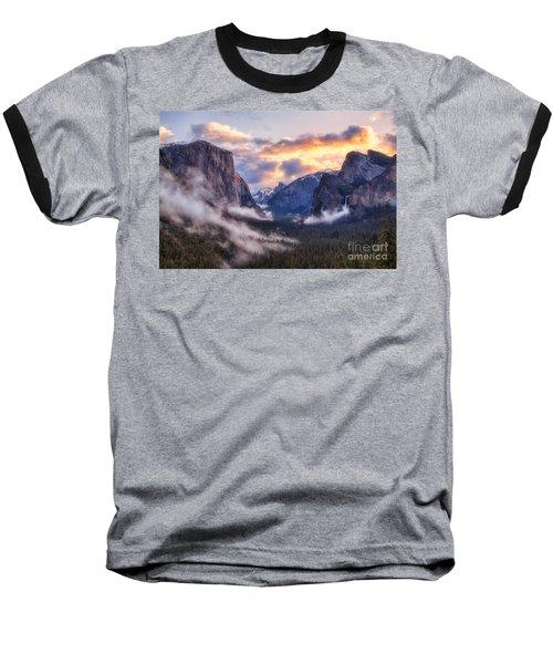 Daybreak Over Yosemite Baseball T-Shirt