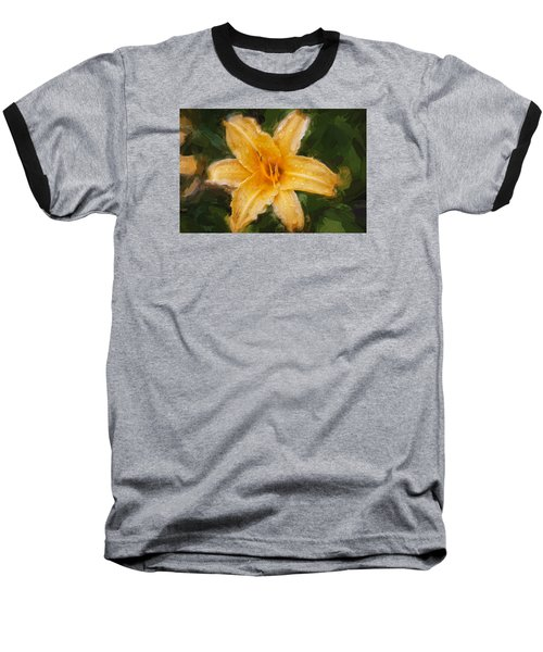 Daylily Hemerocallis Stella De Oro  Baseball T-Shirt by Rich Franco