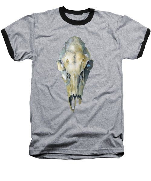 Deer Skull With Aura Baseball T-Shirt by Catherine Twomey