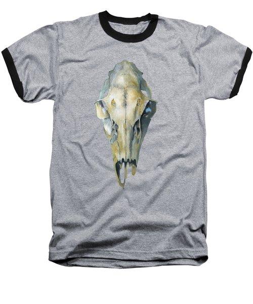 Deer Skull With Aura Baseball T-Shirt