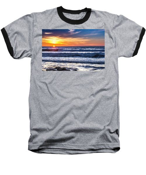 Sunset - Del Mar, California View 1 Baseball T-Shirt