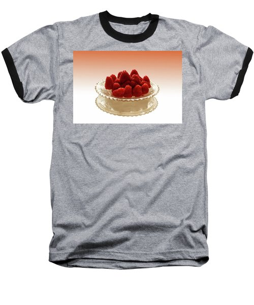 Delicious Raspberries Baseball T-Shirt by David French