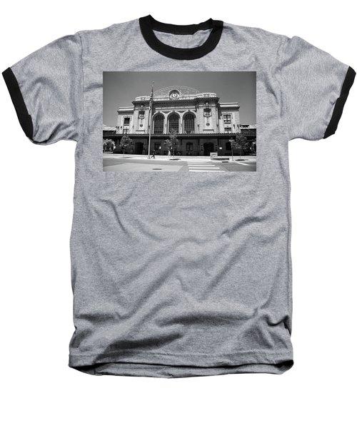Denver - Union Station Film Baseball T-Shirt by Frank Romeo