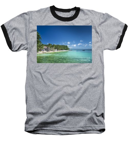 Diniwid Beach In Tropical Paradise Boracay Philippines Baseball T-Shirt