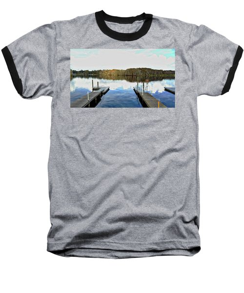 Dock Of The Bay Baseball T-Shirt by Michael Albright