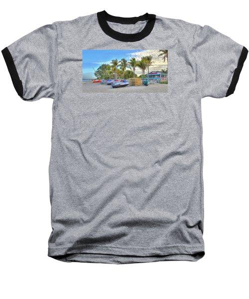 Docs Beach House Baseball T-Shirt by Sean Allen