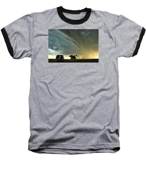 Baseball T-Shirt featuring the photograph Dominating The Storm by Ryan Crouse