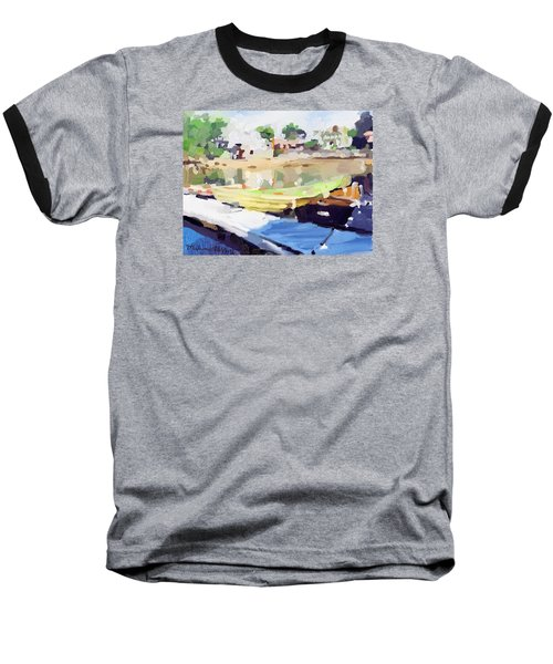 Dories At Beacon Marine Basin Baseball T-Shirt by Melissa Abbott