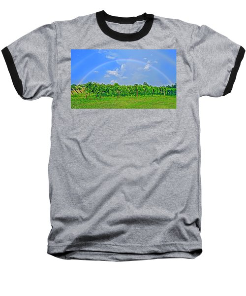 Double Rainbow Vineyard, Smith Mountain Lake Baseball T-Shirt