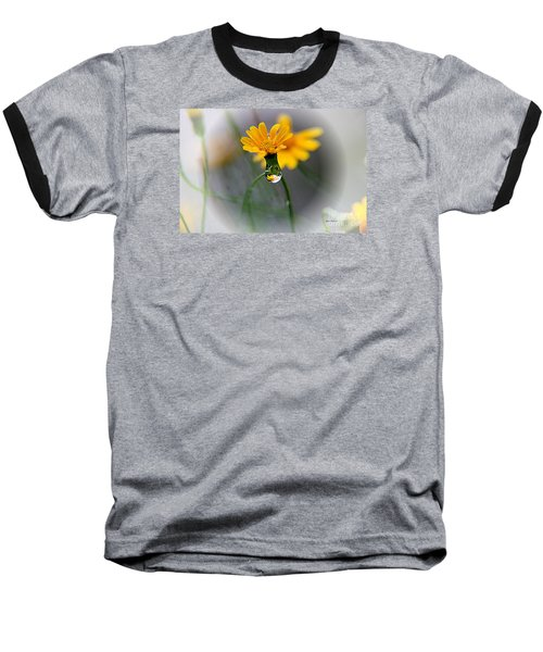 Baseball T-Shirt featuring the photograph Double Yellow by Yumi Johnson
