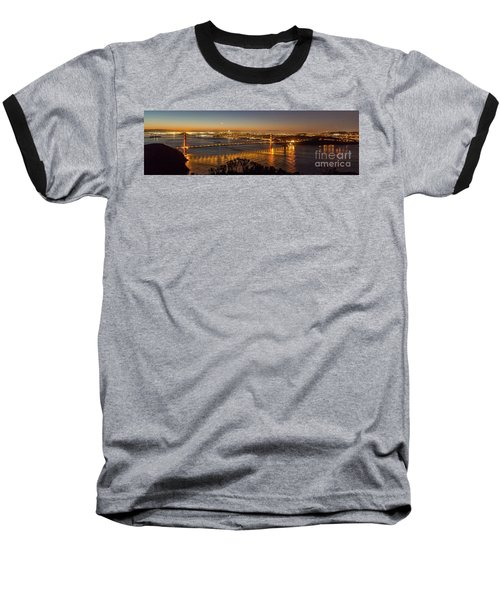 Downtown San Francisco And Golden Gate Bridge Just Before Sunris Baseball T-Shirt