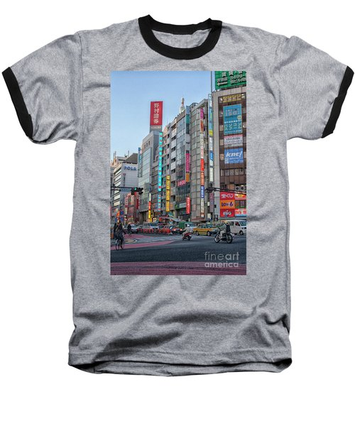 Downtown Tokyo Baseball T-Shirt by Patricia Hofmeester