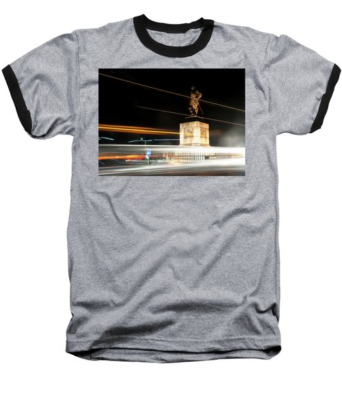 Drake's Statue Traffic Trails Iv Baseball T-Shirt
