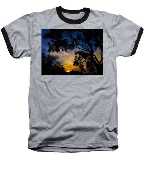 Dream Sunrise Baseball T-Shirt by Mark Blauhoefer