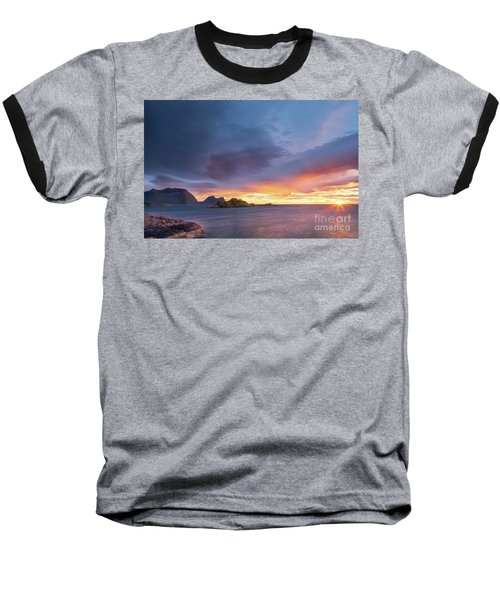 Baseball T-Shirt featuring the photograph Dreamy Sunset by Maciej Markiewicz