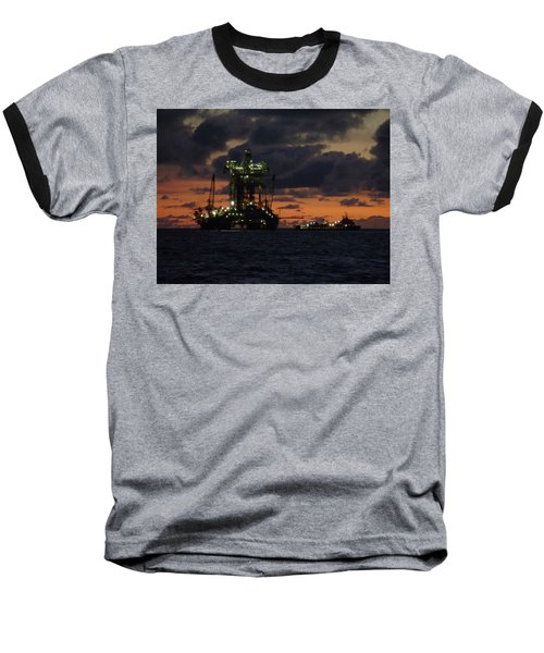 Drill Rig At Dusk Baseball T-Shirt