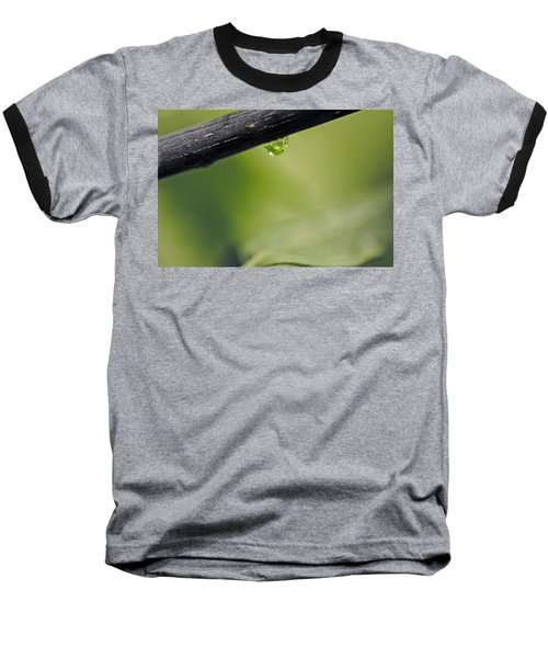 Baseball T-Shirt featuring the photograph Droplet by Cendrine Marrouat