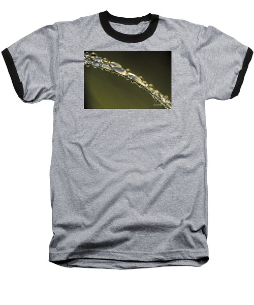 Baseball T-Shirt featuring the photograph Drops On The Green Grass by Odon Czintos