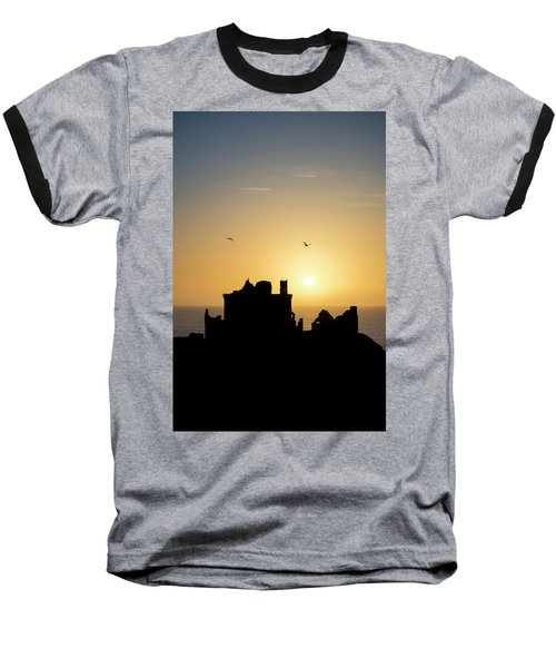 Dunnottar Castle Sunrise Baseball T-Shirt