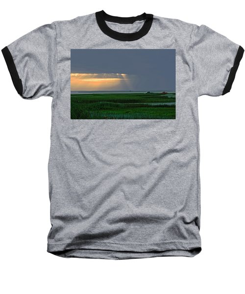 Dusk Fishing Baseball T-Shirt