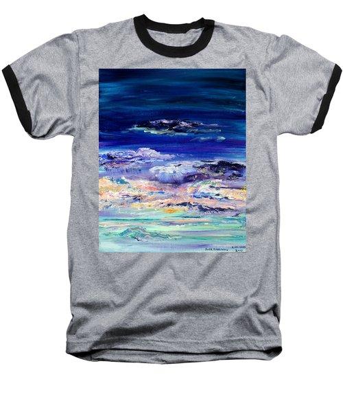 Dusk Imagining Baseball T-Shirt by Regina Valluzzi
