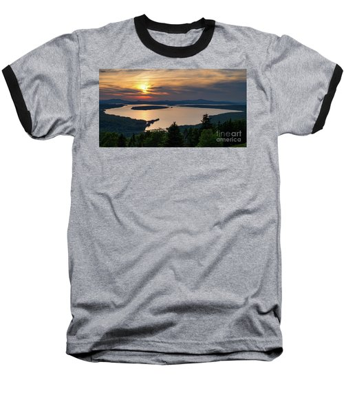 Dusk, Mooselookmeguntic Lake, Rangeley, Maine  -63362-63364 Baseball T-Shirt