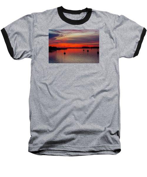 Dusk Baseball T-Shirt by RC Pics