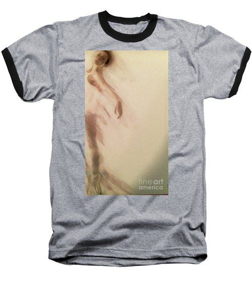 Baseball T-Shirt featuring the painting Dust In The Wind by FeatherStone Studio Julie A Miller