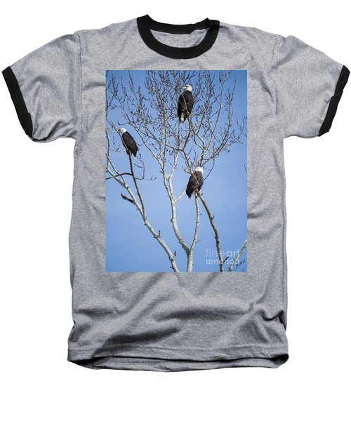 Baseball T-Shirt featuring the photograph Eagles by Jim  Hatch