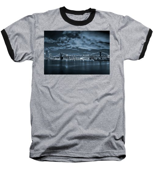 Baseball T-Shirt featuring the photograph East River View by Az Jackson