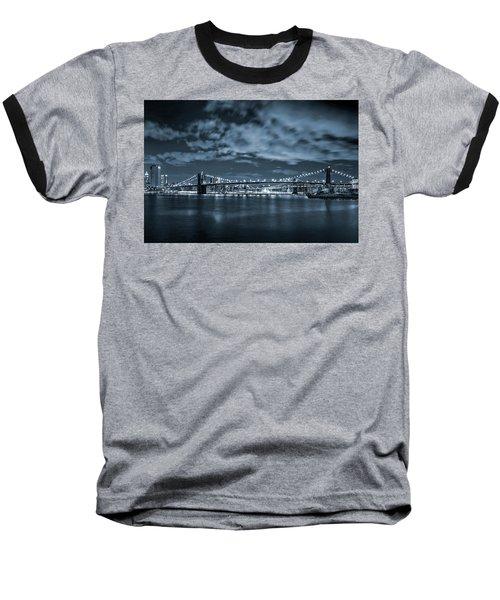 East River View Baseball T-Shirt by Az Jackson