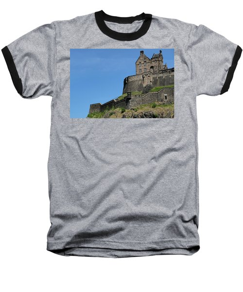 Baseball T-Shirt featuring the photograph Edinburgh Castle by Jeremy Lavender Photography