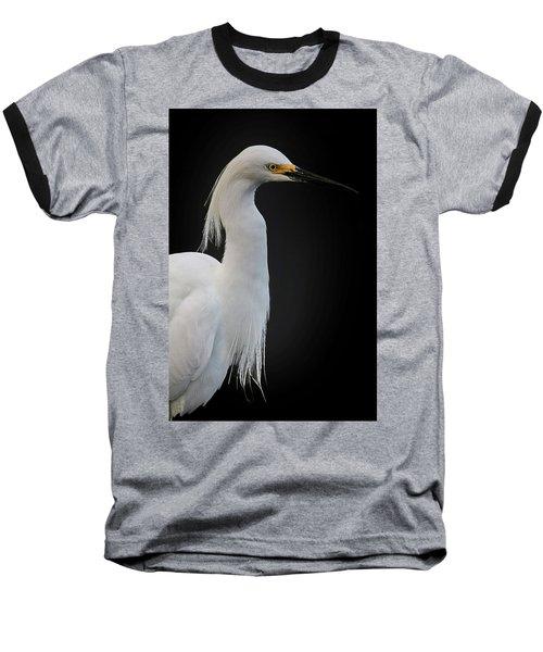 Egret Baseball T-Shirt by Cyndy Doty