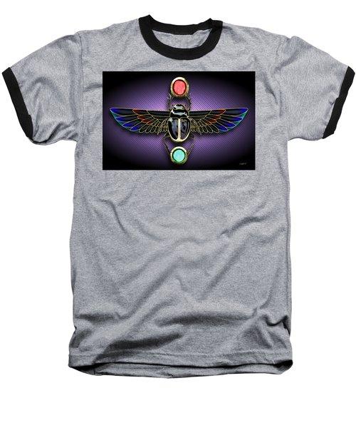 Egyptian Scarab Beetle Baseball T-Shirt
