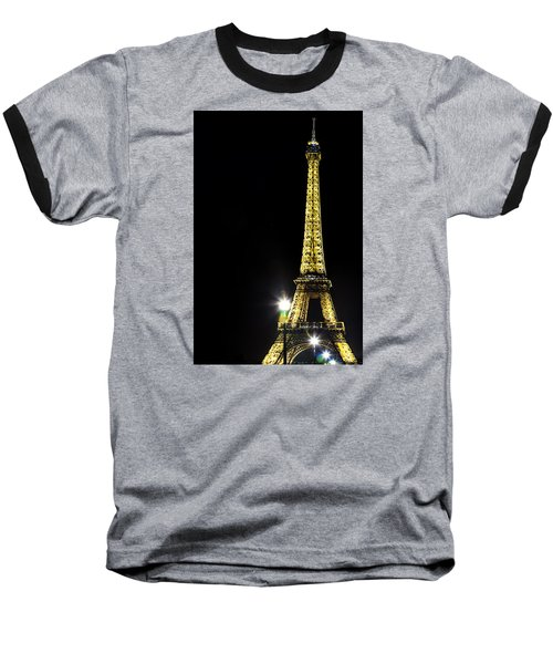 Baseball T-Shirt featuring the photograph Eiffel At Night by Andrew Soundarajan