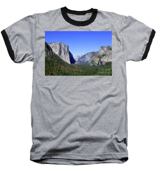 Baseball T-Shirt featuring the photograph El Capitan by Joseph G Holland