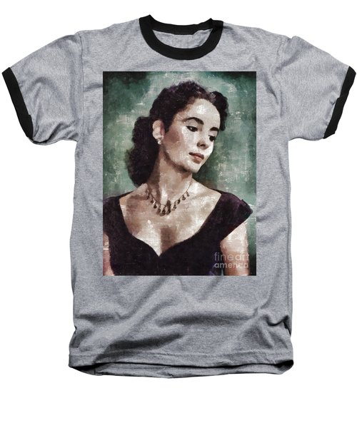 Elizabeth Taylor By Mary Bassett Baseball T-Shirt