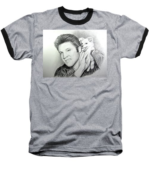 Baseball T-Shirt featuring the painting Elvis And Sweet-pea by Patricia Schneider Mitchell